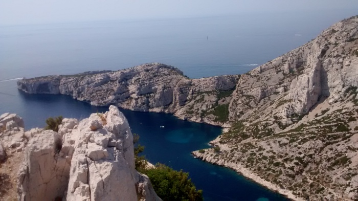 The Calanques - these small inlets were terribly cold!