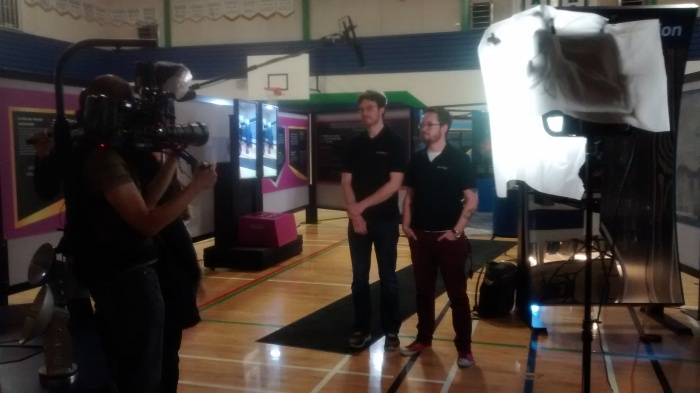The boys getting interviewed